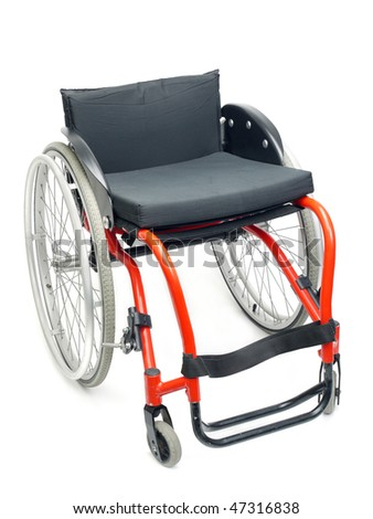 Active wheelchair isolated on white background