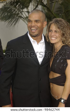 Actor AMAURY NOLASCO & date at the world premiere of his new movie 2 Fast 2 Furious at the Universal Amphitheatre, Hollywood. June 3, 2003