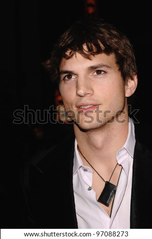 Actor ASHTON KUTCHER at the Los Angeles premiere of his new movie Guess Who, at the Grauman's Chinese Theatre, Hollywood. March 13, 2005: Los Angeles, CA.  2005 Paul Smith / Featureflash