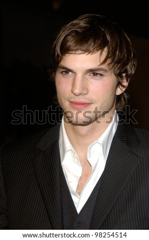 Actor ASHTON KUTCHER at the Los Angeles premiere of his new movie Just Married. 08JAN2003.    Paul Smith/Featureflash