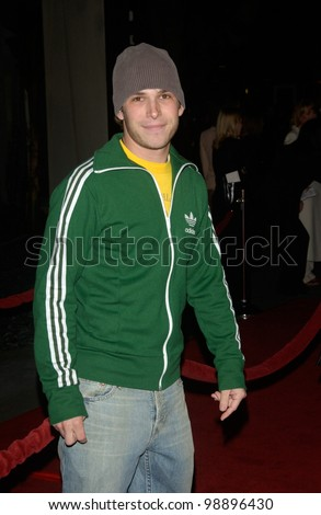 Actor BILLY AARON BROWN at the world premiere, in Hollywood, of The Perfect Score. January 27, 2004