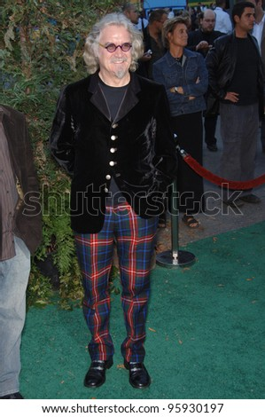 Actor BILLY CONNOLLY at the Los Angeles premiere of his new movie \