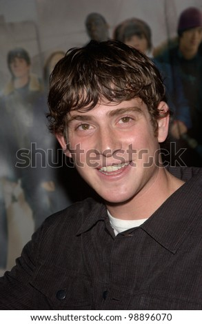 Actor BRYAN GREENBERG at the world premiere, in Hollywood, of his new movie The Perfect Score. January 27, 2004