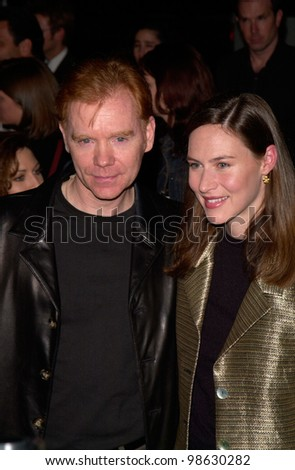 stock photo : Actor DAVID CARUSO & wife MARGARET at the Los Angeles premiere of his new movie Proof of Life. 04DEC2000. Paul Smith / Featureflash