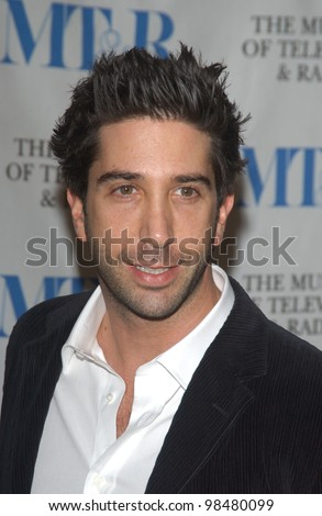 Actor DAVID SCHWIMMER at the Museum of Television & Radio Gala, in Beverly Hills, honoring the producer of Friends. November 10, 2003  Paul Smith / Featureflash