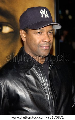 stock photo : Actor DENZEL WASHINGTON at the Los Angeles premiere of his new ...