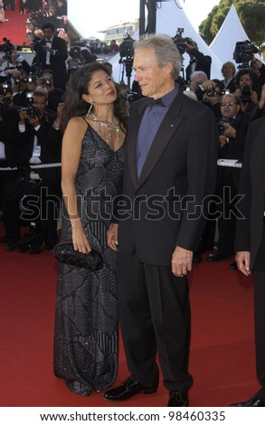 Actor/director CLINT EASTWOOD & wife DINA RUIZ at the screening at the Cannes Film Festival for his new movie Mystic River. 23MAY2003