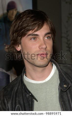 Actor DREW FULLER at the world premiere, in Hollywood, of The Perfect Score. January 27, 2004