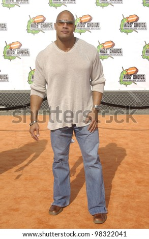 "Actor DWAYNE ""THE ROCK"" JOHNSON at Nickelodeon's 16th Annual Kids' Choice Awards in Santa Monica. April 12, 2003"