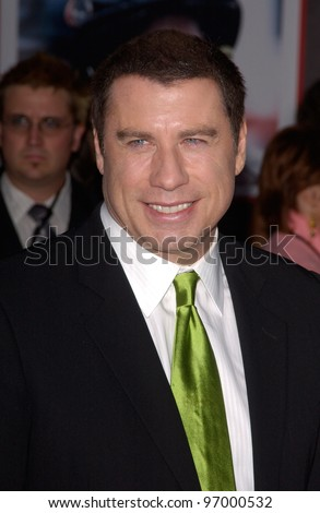 Actor JOHN TRAVOLTA at the world premiere, in Hollywood, of his new movie Ladder 49. September 20, 2004