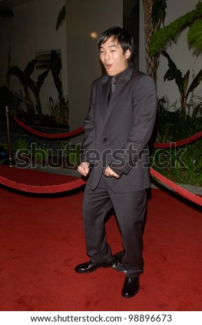 Actor LEONARDO NAM at the world premiere, in Hollywood, of his new movie The Perfect Score. January 27, 2004