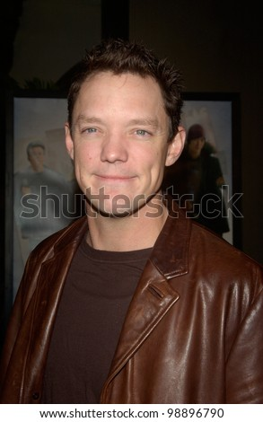 Actor MATTHEW LILLARD at the world premiere, in Hollywood, of his new movie The Perfect Score. January 27, 2004