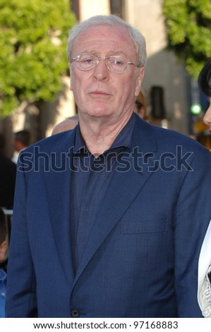 Actor MICHAEL CAINE at the Los Angeles premiere of his new movie Batman Begins. June 6, 2005 Los Angeles, CA.  2005 Paul Smith / Featureflash