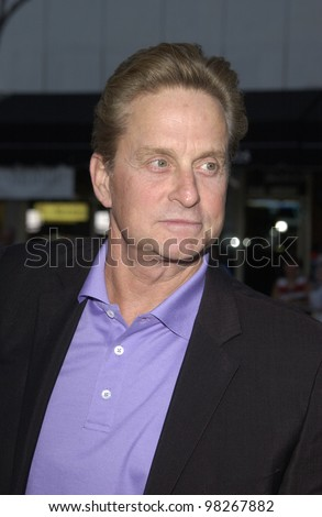 Actor MICHAEL DOUGLAS at the Los Angeles premiere of his movie It Runs In The Family. April 7, 2003