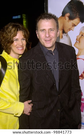 Actor PAUL RISER & wife at the Los Angeles premiere of Win a Date With Tad Hamilton. January 9, 2004  Paul Smith / Featureflash