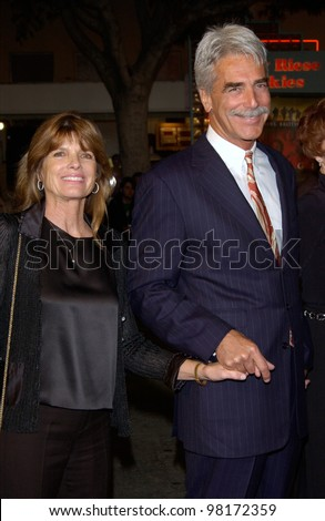 Actor SAM ELLIOTT & actress wife KATHERINE ROSS at the world premiere