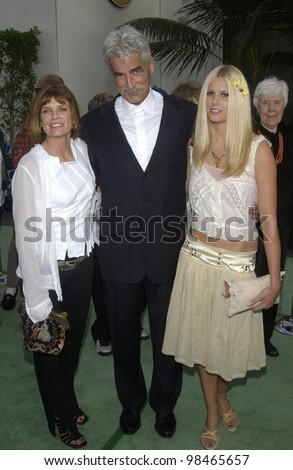 Actor SAM ELLIOTT & wife actress KATHERINE ROSS & daughter CLEO at