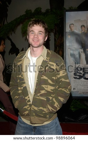 Actor SHAWN ASHMORE at the world premiere, in Hollywood, of The Perfect Score. January 27, 2004