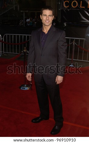 Actor TOM CRUISE at the world premiere, in Los Angeles, of his new movie Collateral. August 2, 2004