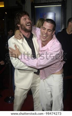 Actor VAL KILMER (left) & Jackass actor STEVE-O at the Los Angeles premiere of Kilmer's new movie Wonderland. Sept 24, 2003  Paul Smith / Featureflash