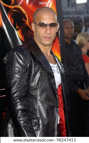 stock photo : Actor VIN DIESEL at the world premiere, in Los Angeles, of