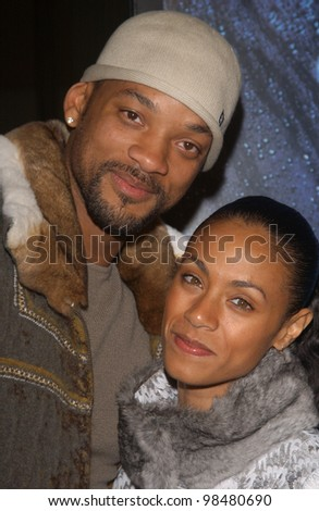 Actor WILL SMITH & wife actress JADA PINKETT-SMITH at the world premiere, in Los Angeles, of Gothika. November 13, 2003  Paul Smith / Featureflash