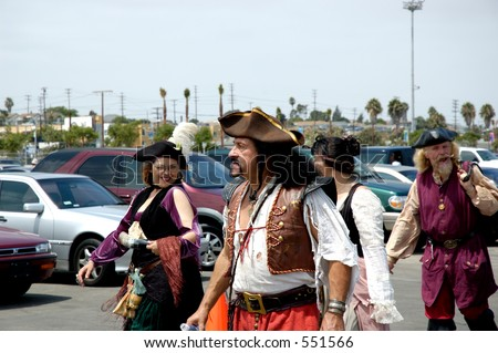 Actors as pirates at Tall Ships Los Angeles Expo
