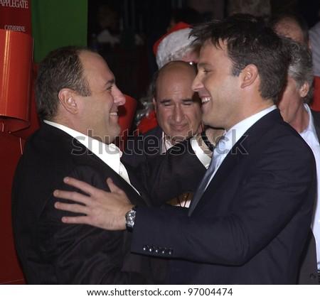 Astonishing Actors James Gandolfini Left Amp Ben Affleck At The Hollywood Easy Diy Christmas Decorations Tissureus