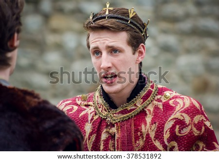 Actors Performing Shakespeare Open Air Theater Shakespeare. King of England