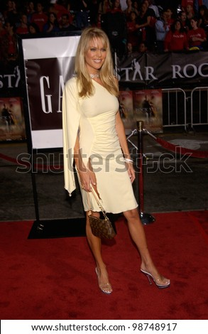 Actress & former Playboy Playmate HEIDI MARK at the Los Angeles premiere of her new movie Rock Star. 04SEP2001.   Paul Smith/Featureflash - stock photo