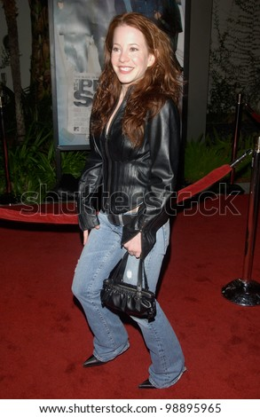 Actress AMY DAVIDSON at the world premiere, in Hollywood, of The Perfect Score. January 27, 2004