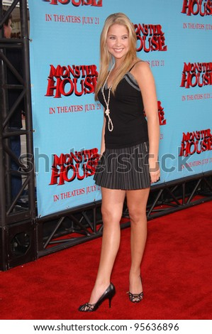 """Actress ASHLEY BENSON at the Los Angeles premiere of """"Monster House"""". July 17, 2006  Los Angeles, CA  2006 Paul Smith / Featureflash"""
