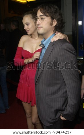 Actress BIJOU PHILLIPS & boyfriend singer SEAN LENNON at the Los Angeles premiere of Wonderland. Sept 24, 2003  Paul Smith / Featureflash
