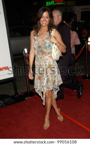 Actress BROOKE BURKE at the world premiere, in Hollywood, of Walking Tall. March 29, 2004 - stock photo