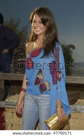 Actress BROOKE BURKE at world premiere, in Hollywood, of Open Range. Aug 11, 2003  Paul Smith / Featureflash - stock photo