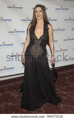 Actress CATHERINE ZETA-JONES at the 3rd Annual Adopt-A-Minefield Benefit Gala at the Beverly Hills Hilton. Sept 23, 2003  Paul Smith / Featureflash