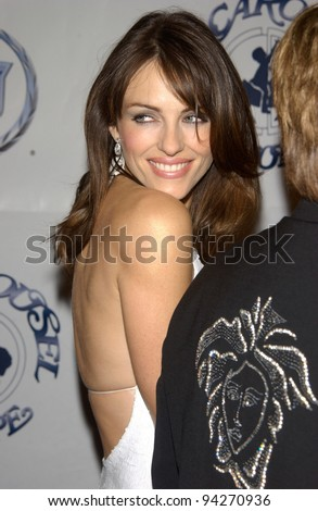Actress ELIZABETH HURLEY at the 15th Carousel of Hope Ball at the Beverly Hilton Hotel, Beverly Hills. 15OCT2002.   Paul Smith / Featureflash