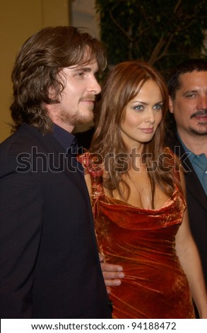 Actress IZABELLA SCORUPCO & actor CHRISTIAN BALE at the Los Angeles premiere of their new movie Reign of Fire.  Paul Smith / Featureflash jan 30, 2012