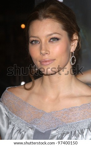 Actress JESSICA BIEL at the world premiere, in Hollywood, of her new movie The Texas Chainsaw Massacre. Oct 15, 2003  Paul Smith / Featureflash - stock photo