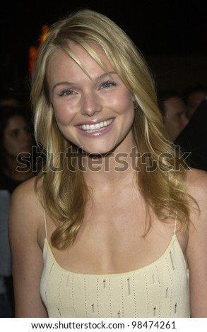 Actress KATE BOSWORTH at the Los Angeles premiere of her new movie Wonderland. Sept 24, 2003  Paul Smith / Featureflash