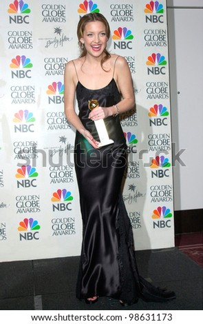 Actress KATE HUDSON at the 2001 Golden Globe Awards at the Beverly Hilton Hotel. 21JAN2001.   Paul Smith/Featureflash
