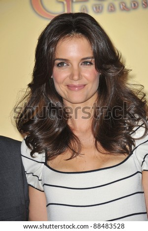 Actress Katie Holmes at the nominations announcement for the 2011 Golden Globe Awards at the Beverly Hilton Hotel. December 14, 2010  Beverly Hills, CA Picture: Paul Smith / Featureflash