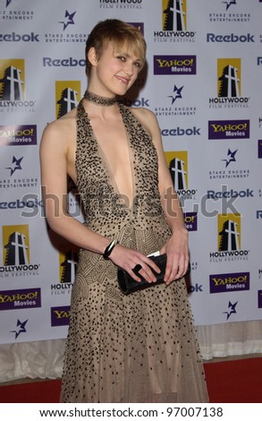 Actress KEIRA KNIGHTLEY at the 8th Annual Hollywood Film Festival's Hollywood Awards at the Beverly Hills Hilton. She won the award for Hollywood Breakthrough Actress. October 18, 2004