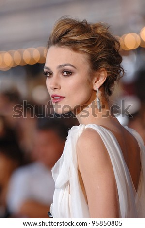 "Actress KEIRA KNIGHTLEY at the world premiere of her new movie ""Pirates of the Caribbean: Dead Man's Chest"" at Disneyland, CA. June 24, 2006  Anaheim, CA  2006 Paul Smith / Featureflash"