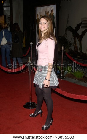 Actress LINDSY FONSECA at the world premiere, in Hollywood, of The Perfect Score. January 27, 2004