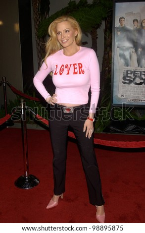Actress/model CINDY MARGOLIS at the world premiere, in Hollywood, of The Perfect Score. January 27, 2004