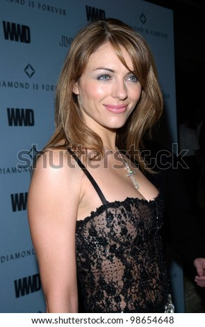Actress/model ELIZABETH HURLEY at Black, White & Diamonds pre-Oscar party in Beverly Hills. 21MAR2001.    Paul Smith/Featureflash