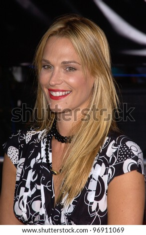 Actress MOLLY SIMS at the world premiere, in Los Angeles, of Collateral. August 2, 2004