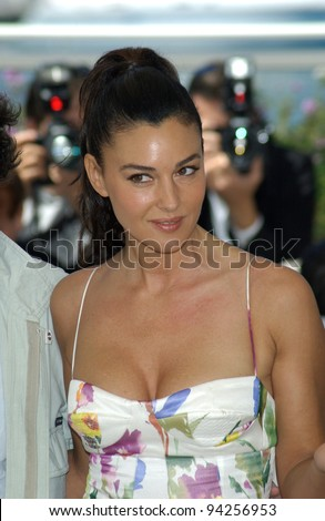Actress MONICA BELLUCCI at the Cannes Film Festival to promote her new movie Irreversible. 24MAY2002.   Paul Smith / Featureflash