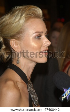 Actress NAOMI WATTS at the Los Angeles premiere of her new movie 21 Grams. November 6, 2003  Paul Smith / Featureflash
